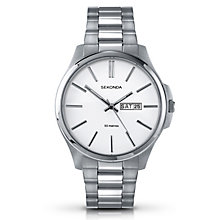 Sekonda Men's White Dial & Stainless Steel Bracelet Watch - Product number 3434664