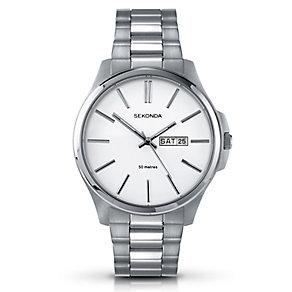 Sekonda Men's White Dial & Stainless Steel Bracelet Watch - Product number 3434664