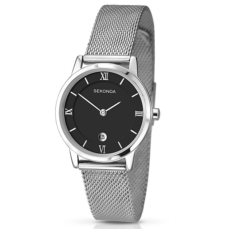 Sekonda Men's Black Dial & Stainless Steel Bracelet Watch - Product number 3434702