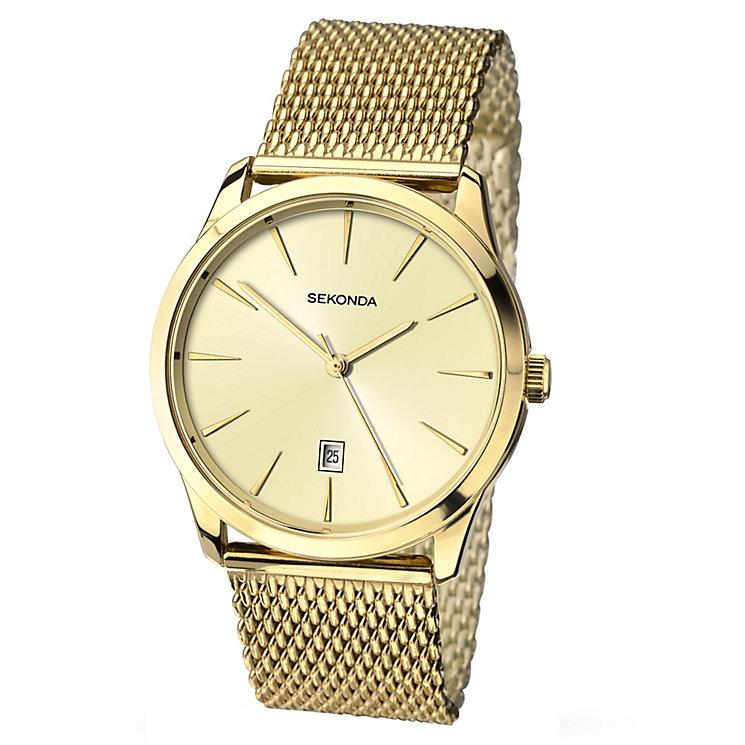 Sekonda Men's Champagne Dial Mesh Bracelet Watch - Product number 3434796