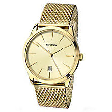 Sekonda Men's Champagne Dial Mesh Bracelet Watch - Product number 3434796