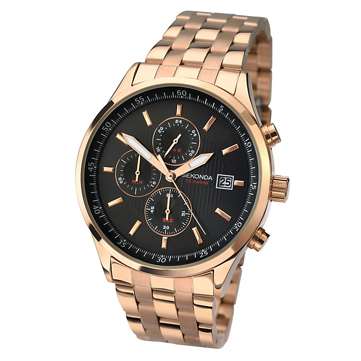 sekonda gold watches best watchess 2017 sekonda men s rose gold plated bracelet watch h samuel