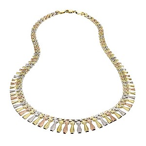 9ct Three Colour Gold Cleopatra Necklace
