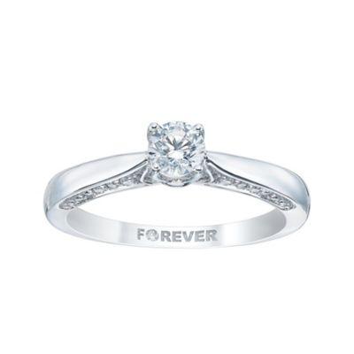 18ct White Gold 25 Carat Forever Diamond Ring HSamuel