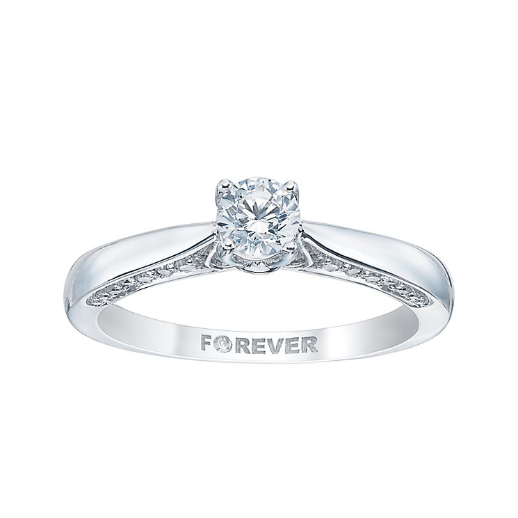 18ct white gold 2 5 carat forever ring h samuel