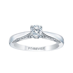 The Forever Diamond 18ct White Gold 2/5 Carat Diamond Ring - Product number 3438058