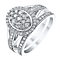 9ct White Gold 2/3 Carat Diamond Bridal Ring Set - Product number 3438341