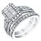9ct White Gold 2/3 Carat Diamond Rectangular Bridal Set - Product number 3438848