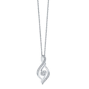 Sterling Silver Diamond Pendant - Product number 3441903