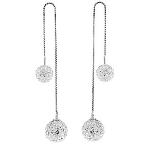 Tresor Paris 18ct white gold-plated crystal earrings - Product number 3442020