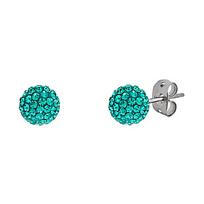 Tresor Paris titanium 6mm jade crystal stud earrings - Product number 3442101