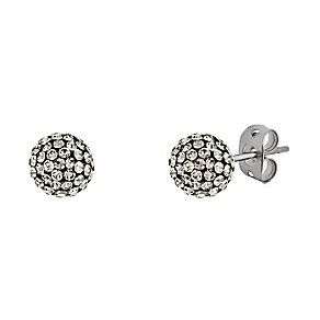 Tresor Paris titanium 6mm crystal stud earrings - Product number 3442136