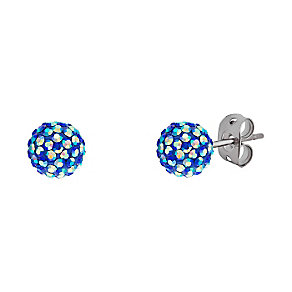 Tresor Paris titanium 6mm iridescent crystal stud earrings - Product number 3442152