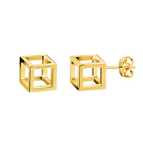 Calvin Klein Daring gold-plated stud earrings - Product number 3442187