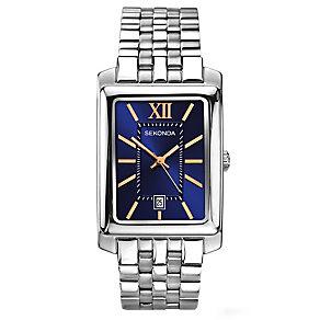Sekonda Men's Blue Sunray Dial Bracelet Watch - Product number 3444090