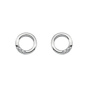 Hot Diamonds Halo sterling silver circle earrings - Product number 3444104