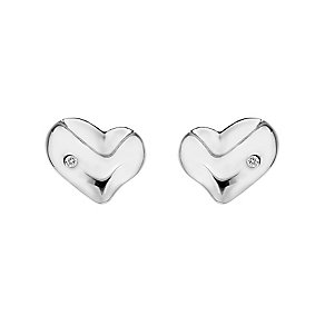 Hot Diamonds Lunar sterling silver heart stud earrings - Product number 3444120