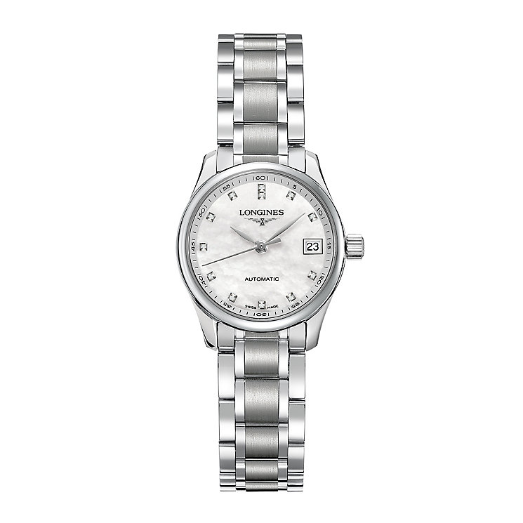 Longines ladies' stainless steel bracelet watch - Product number 3447669