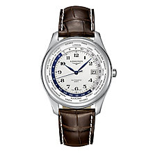 Longines Men's Stainless Steel Round Strap Watch - Product number 3448053