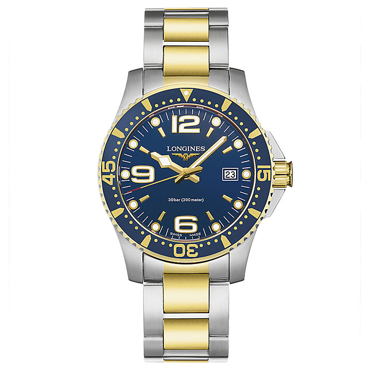 Longines Men's Two Colour Blue Dial Bracelet Watch - Product number 3448142