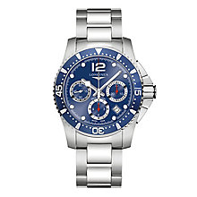 Longines Men's Stainless Steel Round Chrome Bracelet Watch - Product number 3448207