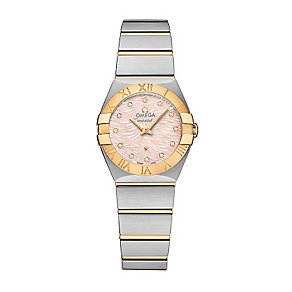 Omega Constellation ladies' two colour bracelet watch - Product number 3450015