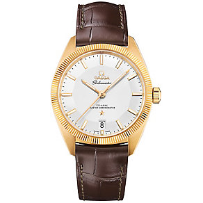 Omega Globemaster Men's Yellow Gold Plated Strap Watch - Product number 3450155