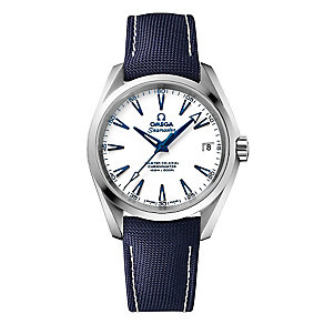Omega Seamaster Men's Titanium White Dial Strap Watch - Product number 3450457