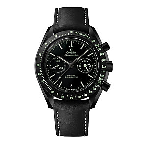 Omega Speedmaster Men's  Round Black Strap Watch - Product number 3450813