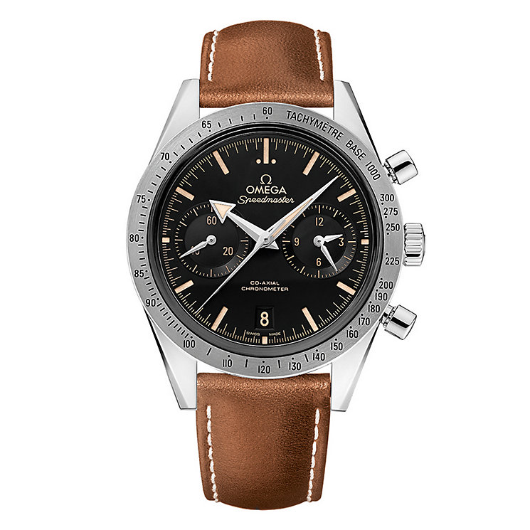 Omega Speedmaster '57 men' stainless steel brown strap watch - Product number 3450961