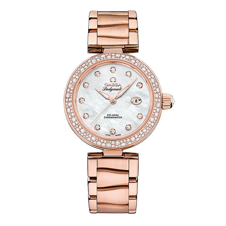 Omega Ladymatic Ladies' Rose Gold Stone Set Bracelet Watch - Product number 3451054