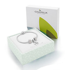 Chamilia Silver Bracelet With Splendor & Mum Heart Bead Set - Product number 3451518