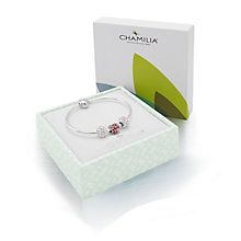 Chamilia Silver Bangle With Splendor and Heart Bead Set - Product number 3451526