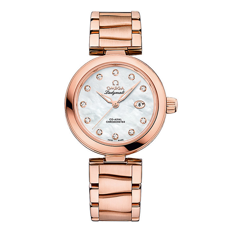 Omega Ladymatic Ladies' Rose Gold Plated Bracelet Watch - Product number 3453359