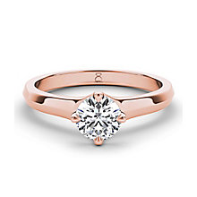 The Diamond Story 18ct rose gold 1/4 carat diamond ring - Product number 3453367
