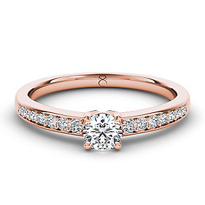 The Diamond Story 18ct rose gold 0.33ct diamond ring - Product number 3453804