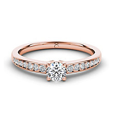 The Diamond Story 18ct rose gold 0.50ct carat diamond ring - Product number 3453995