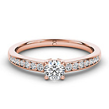 The Diamond Story 18ct rose gold 0.66ct diamond ring - Product number 3454134