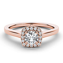The Diamond Story 18ct rose gold 0.33ct diamond halo ring - Product number 3454398