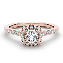 The Diamond Story 18ct rose gold 0.66ct diamond halo ring - Product number 3454630