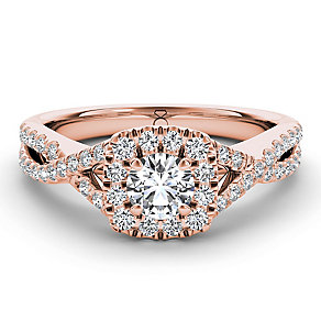 The Diamond Story 18ct rose gold 75pt diamond twist ring - Product number 3455386