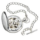 Jean Pierre sterling silver double hunter pocket watch - Product number 3455521