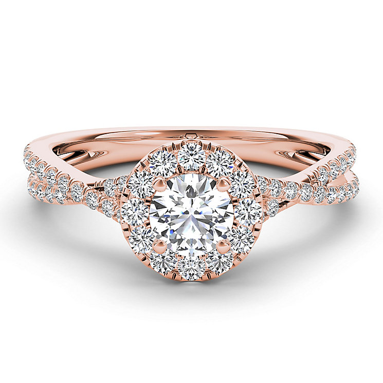 The Diamond Story 18ct rose gold 0.75ct diamond twist ring - Product number 3456005
