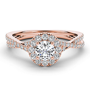 The Diamond Story 18ct rose gold 75pt diamond twist ring - Product number 3456005