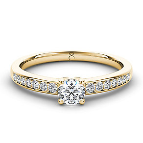 The Diamond Story 18ct yellow gold 33pt diamond solitaire - Product number 3457508