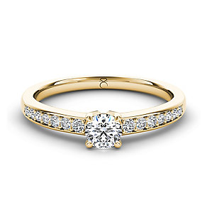 The Diamond Story 18ct yellow gold 1/2 carat diamond ring - Product number 3458202