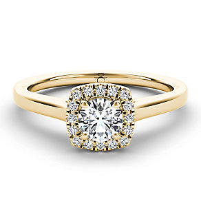 The Diamond Story 18ct yellow gold 0.33ct diamond halo ring - Product number 3458598