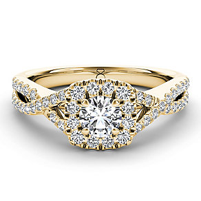 The Diamond Story 18ct yellow gold 75pt diamond twist ring - Product number 3459373