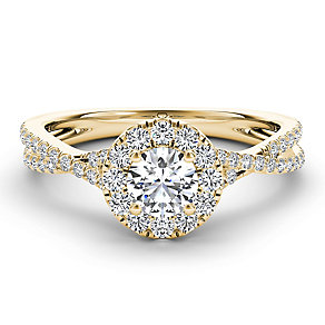 The Diamond Story 18ct yellow gold 75pt diamond twist ring - Product number 3459659