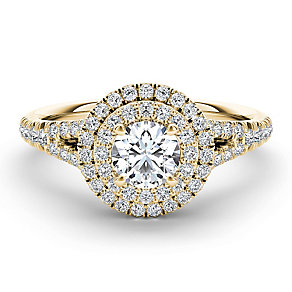 The Diamond Story 18ct yellow gold 1ct diamond halo ring - Product number 3459950